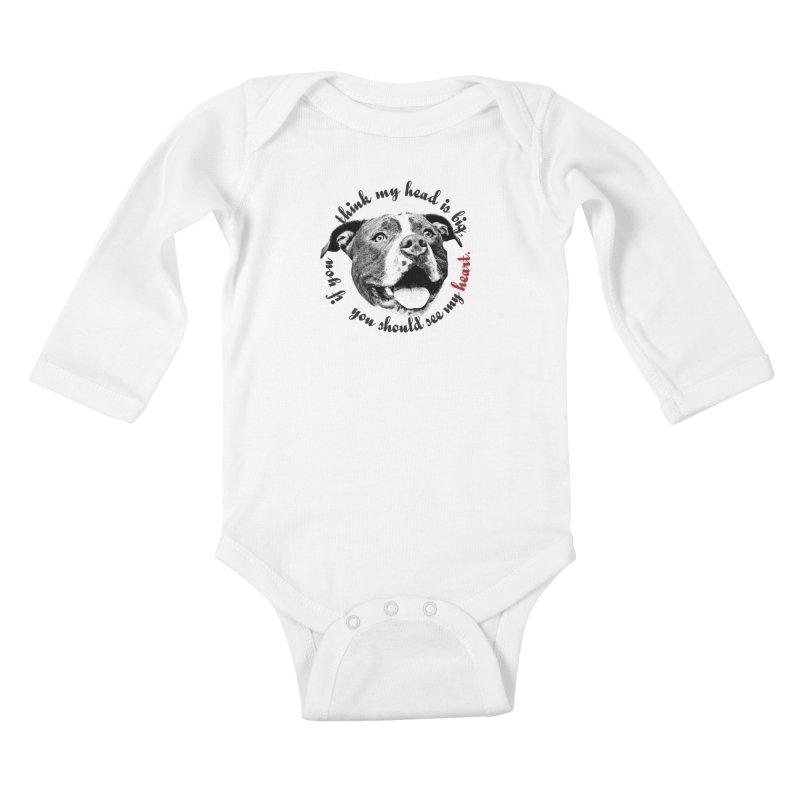 Beefy Bull Kids Baby Longsleeve Bodysuit by Pittie Chicks