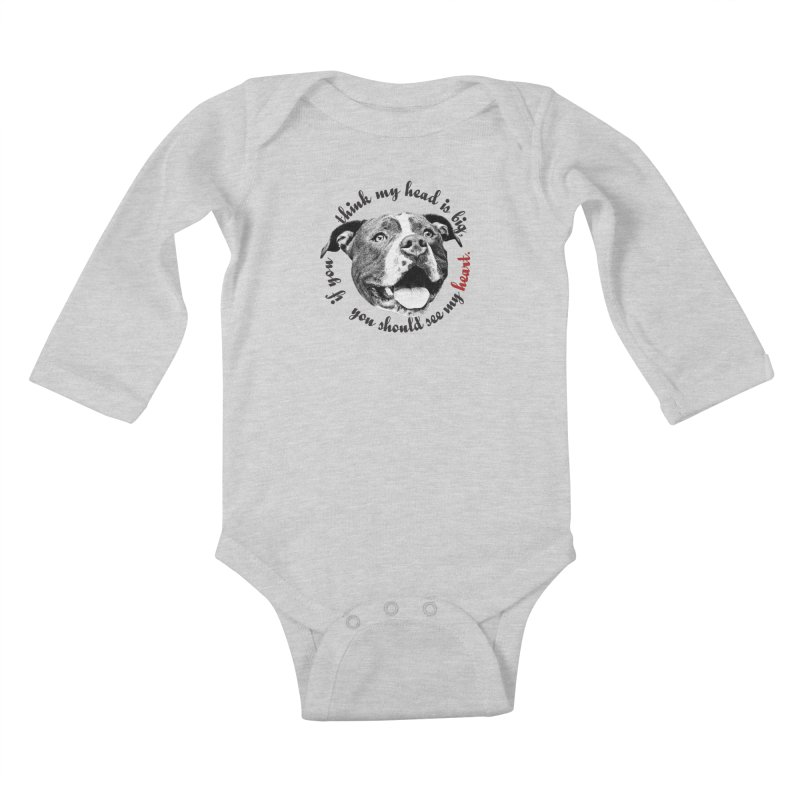 Beefy Bull Kids Baby Longsleeve Bodysuit by Pittie Chicks