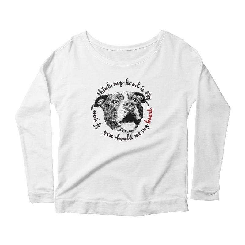 Beefy Bull Women's Scoop Neck Longsleeve T-Shirt by Pittie Chicks