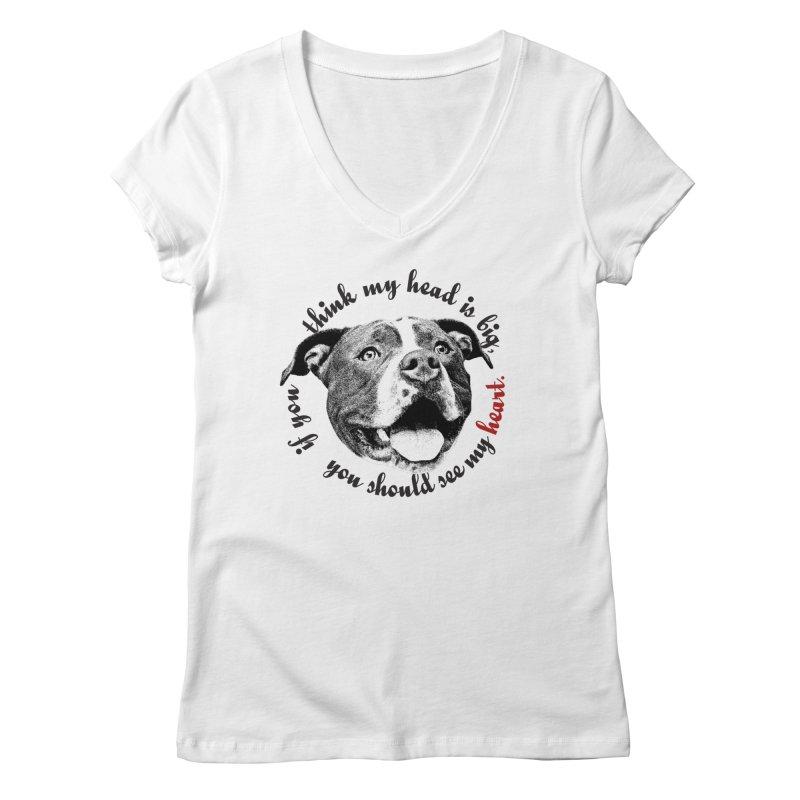 Beefy Bull Women's Regular V-Neck by Pittie Chicks