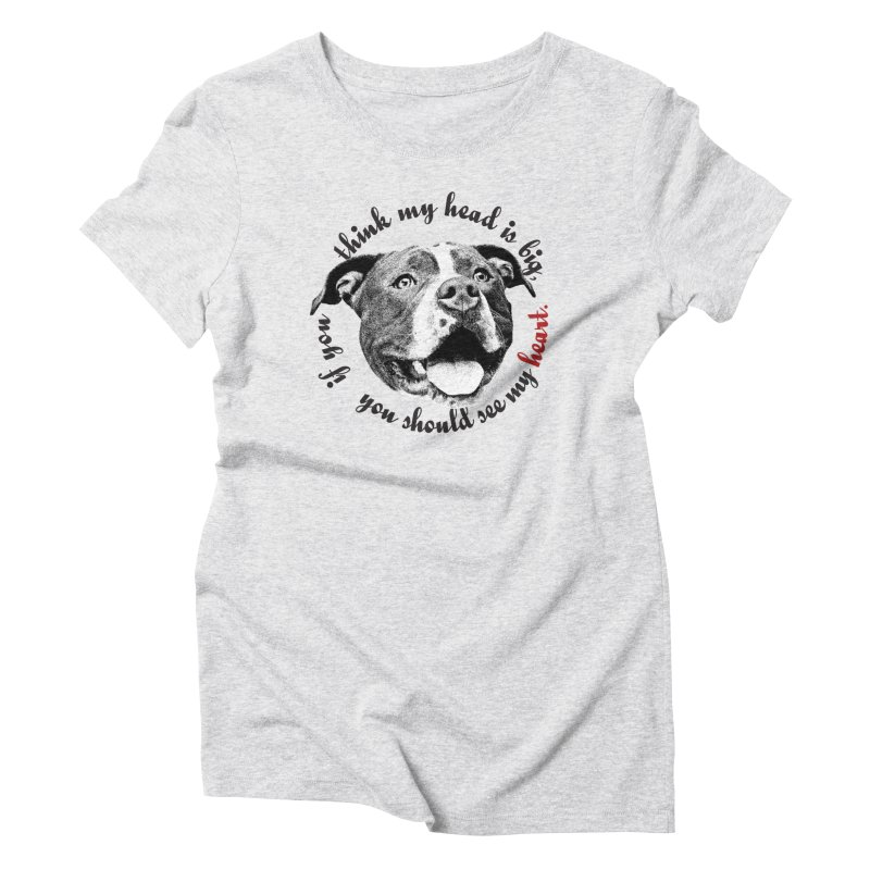 Beefy Bull Women's Triblend T-Shirt by Pittie Chicks