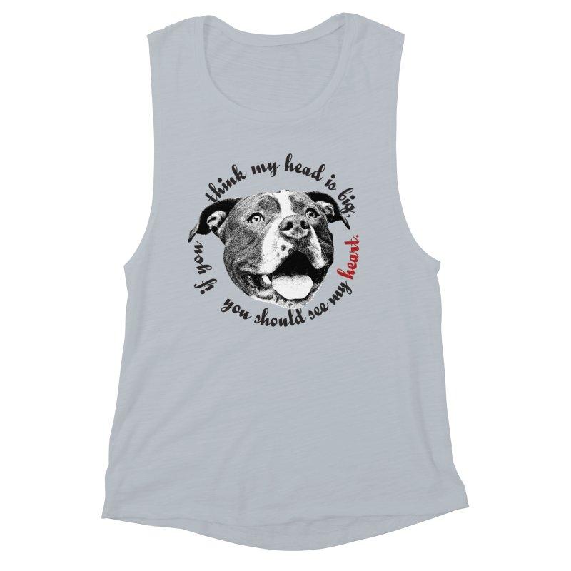 Beefy Bull Women's Muscle Tank by Pittie Chicks