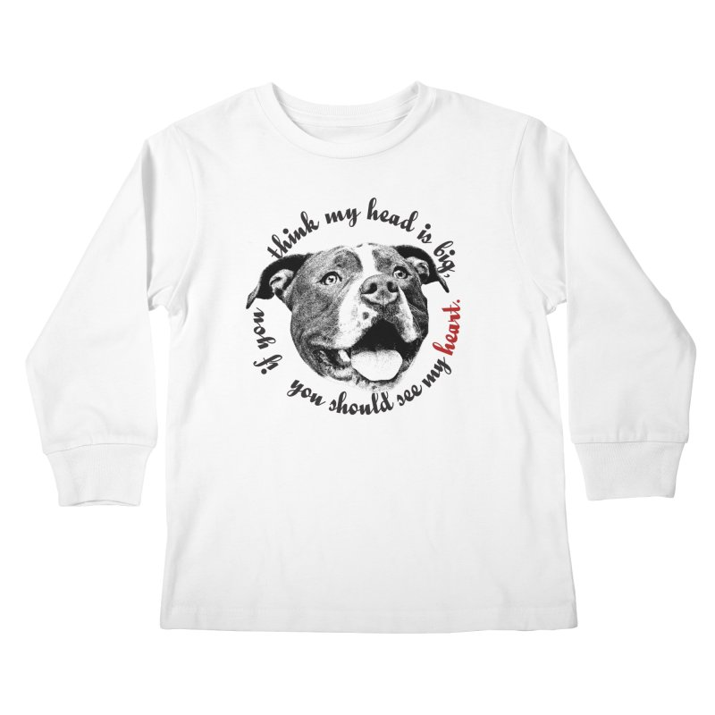Beefy Bull Kids Longsleeve T-Shirt by Pittie Chicks