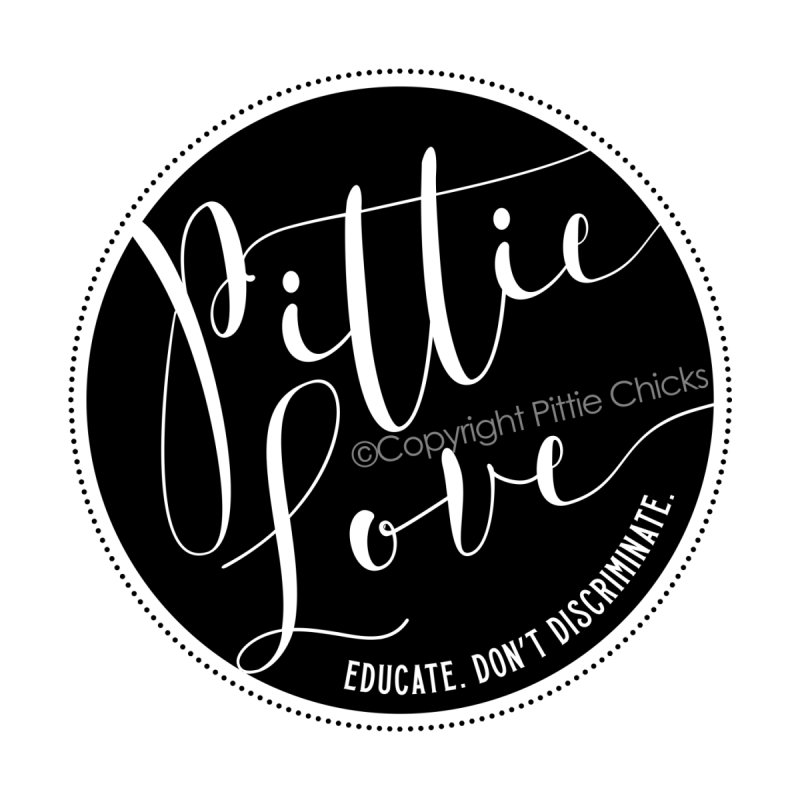 Pittie Love - Educate Don't Discriminate Accessories Bag by Pittie Chicks