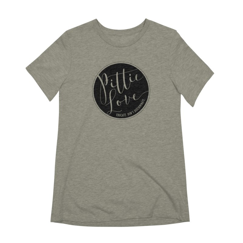Pittie Love - Educate Don't Discriminate Women's Extra Soft T-Shirt by Pittie Chicks