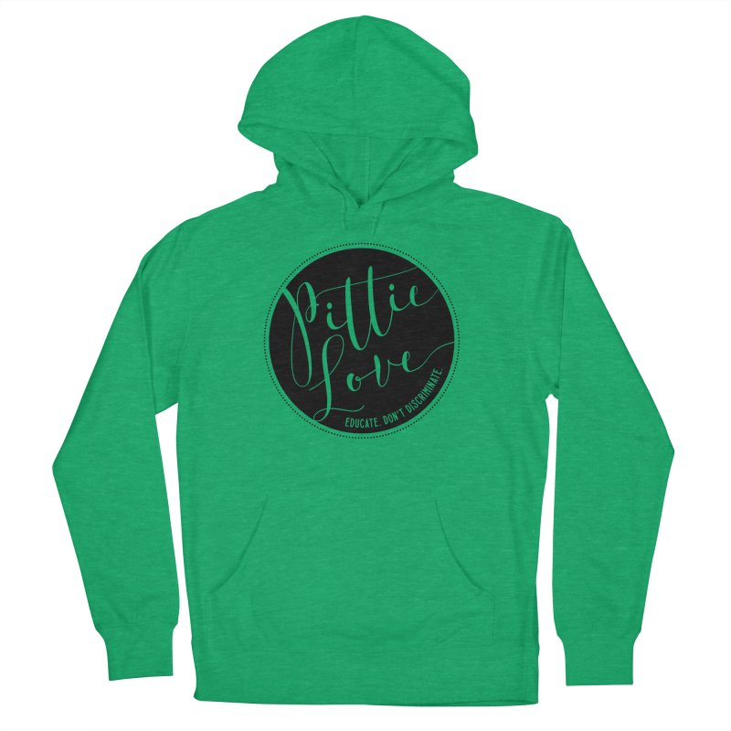 Pittie Love - Educate Don't Discriminate Women's French Terry Pullover Hoody by Pittie Chicks