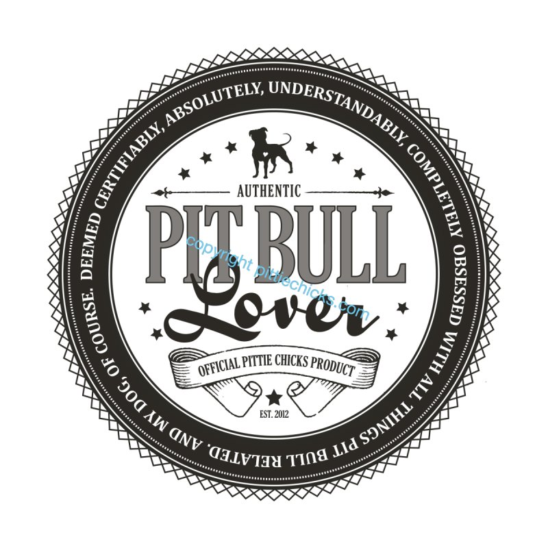 Authentic Pit Bull Lover Accessories Sticker by Pittie Chicks