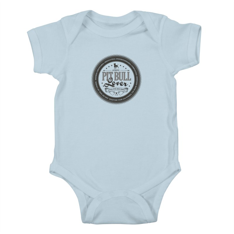 Authentic Pit Bull Lover Kids Baby Bodysuit by Pittie Chicks