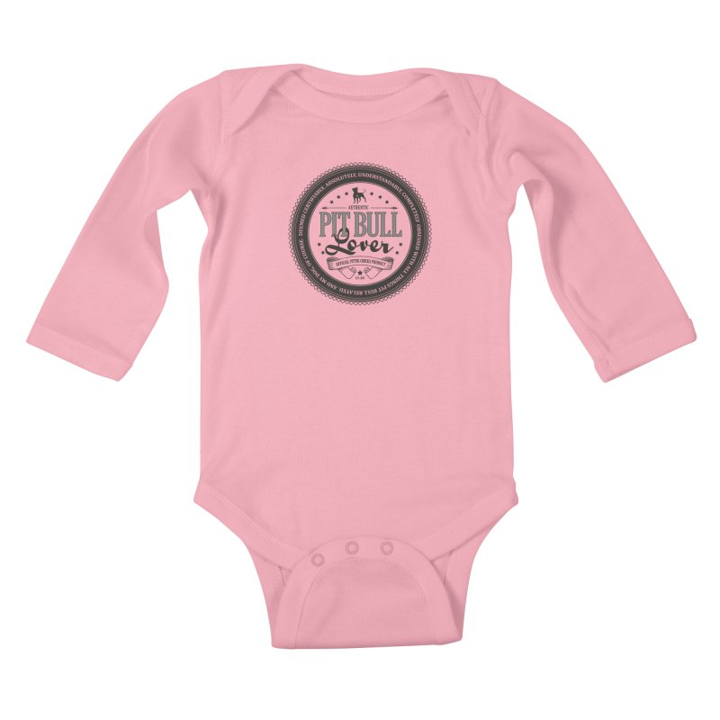 Authentic Pit Bull Lover Kids Baby Longsleeve Bodysuit by Pittie Chicks