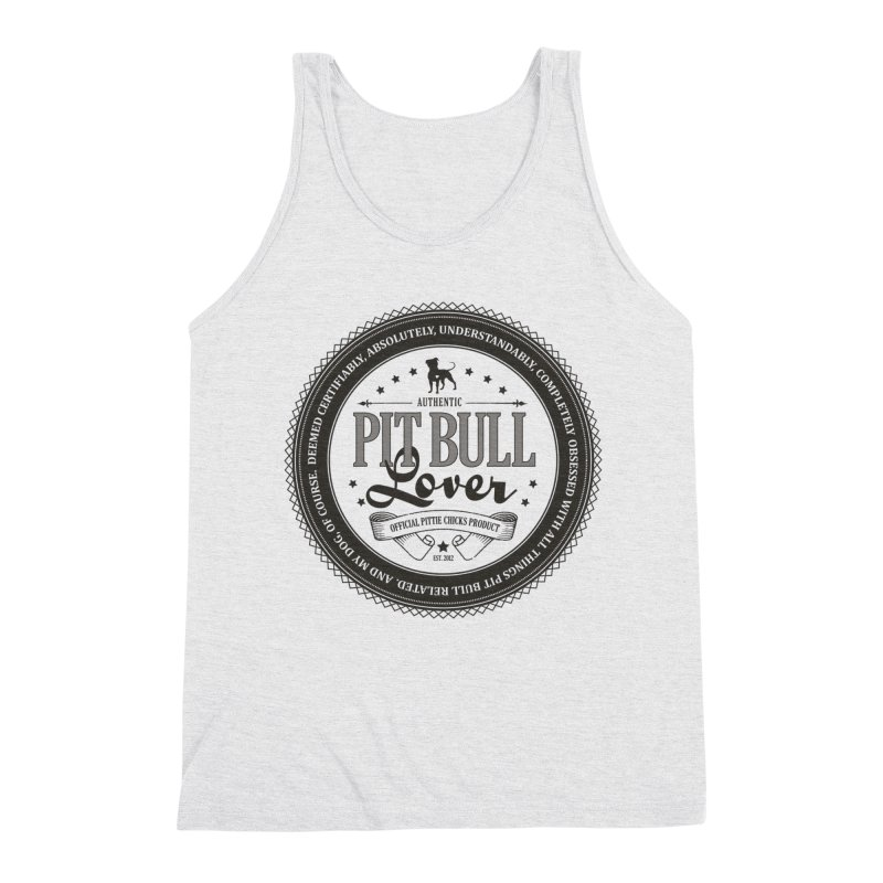 Authentic Pit Bull Lover Men's Triblend Tank by Pittie Chicks