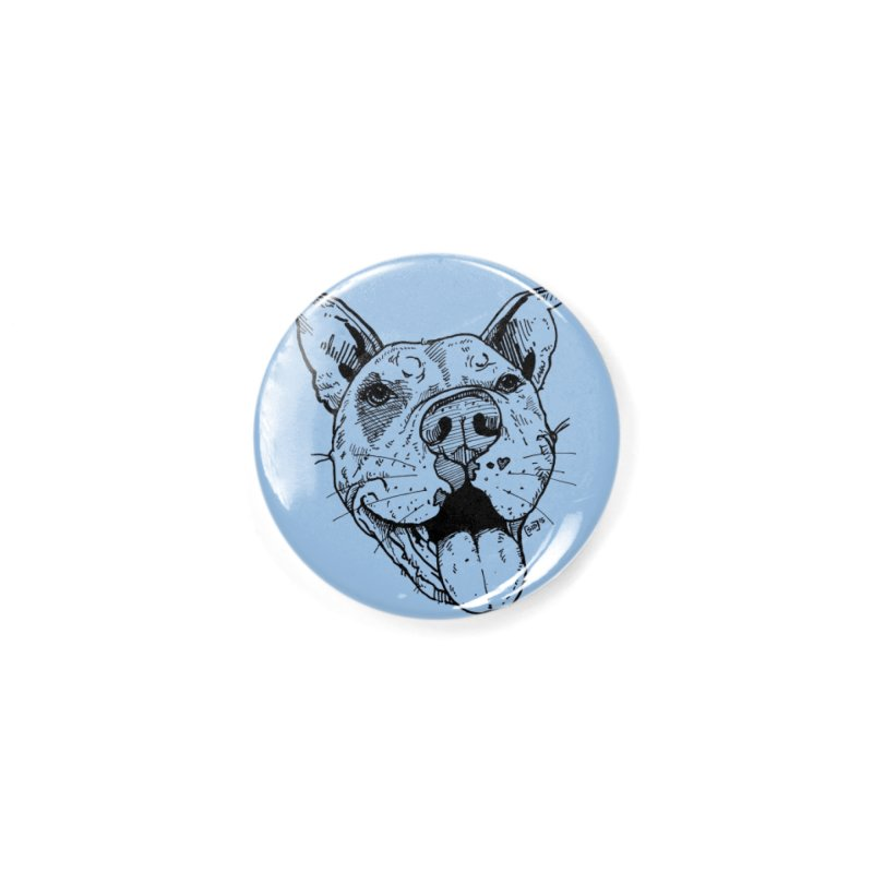Pittie Smile Accessories Button by Pittie Chicks