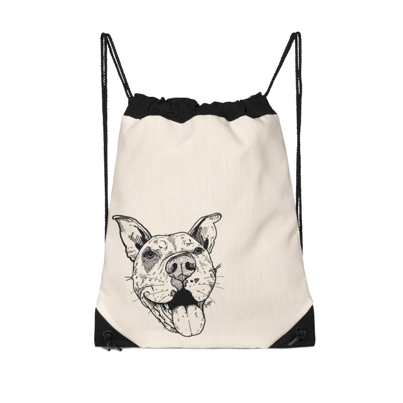 Pittie Smile Accessories Drawstring Bag Bag by Pittie Chicks
