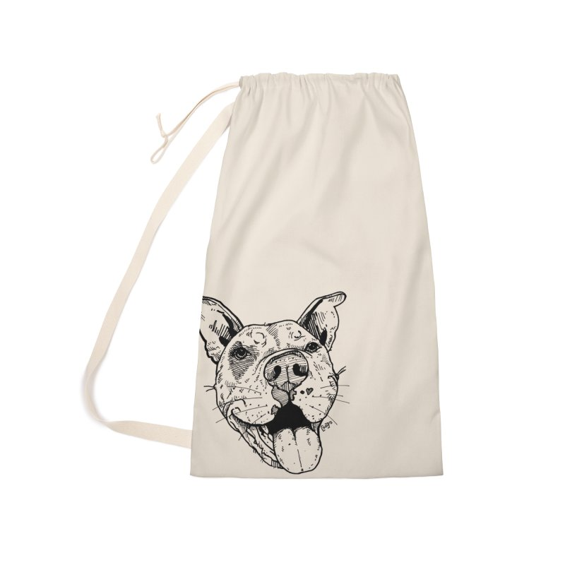 Pittie Smile Accessories Laundry Bag Bag by Pittie Chicks