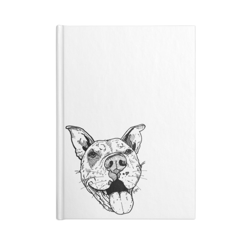 Pittie Smile Accessories Lined Journal Notebook by Pittie Chicks