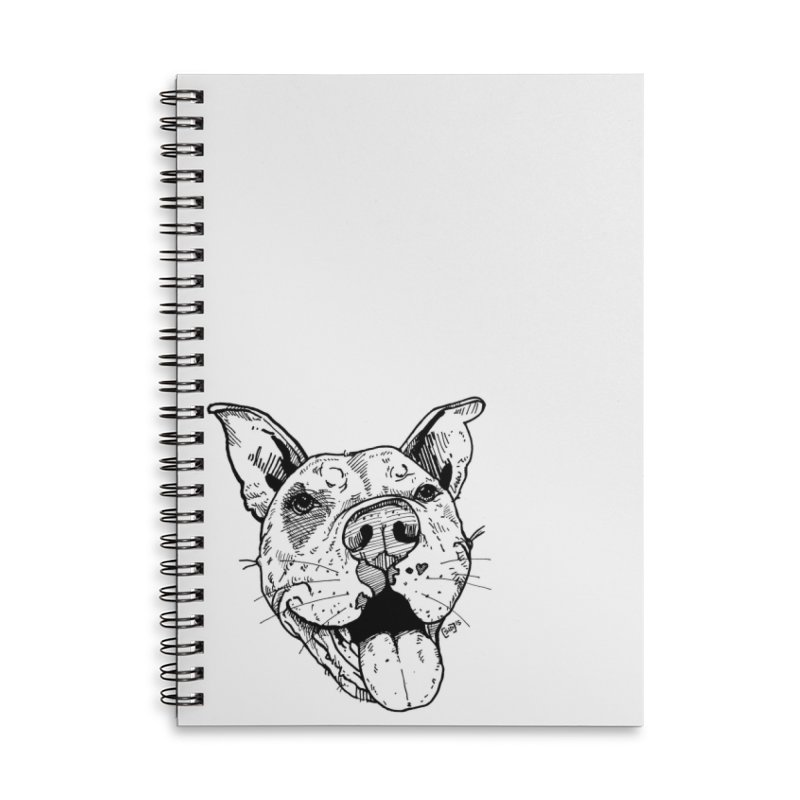 Pittie Smile Accessories Lined Spiral Notebook by Pittie Chicks