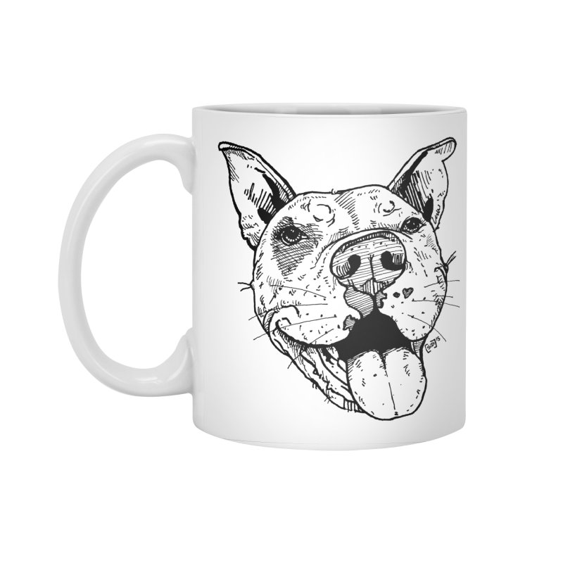 Pittie Smile Accessories Standard Mug by Pittie Chicks