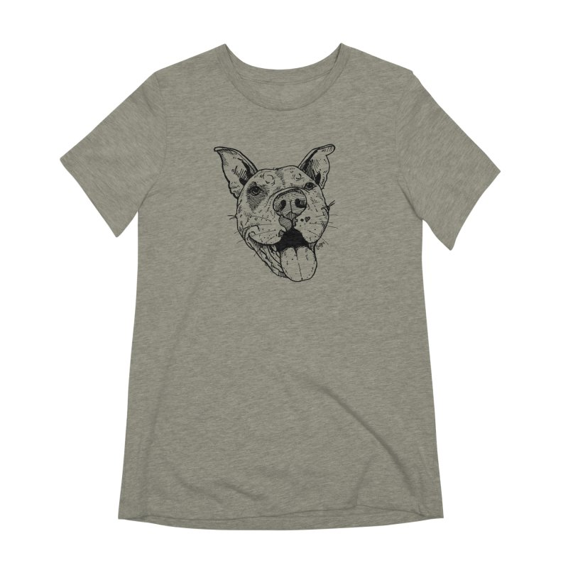 Pittie Smile Women's Extra Soft T-Shirt by Pittie Chicks