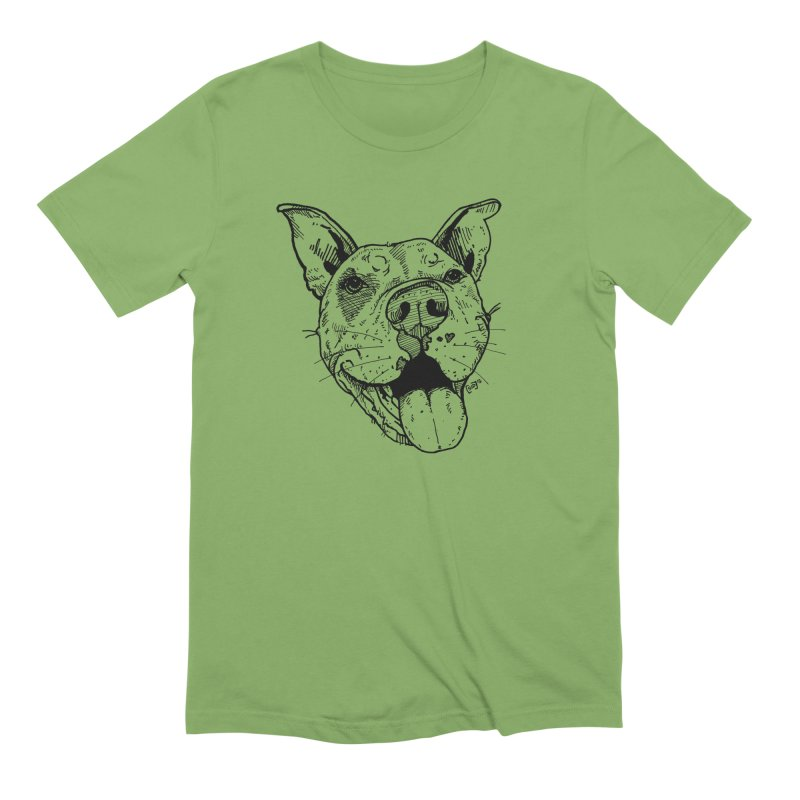 Pittie Smile Men's Extra Soft T-Shirt by Pittie Chicks