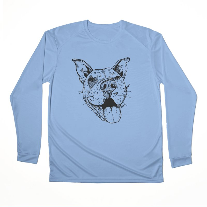 Pittie Smile Men's Longsleeve T-Shirt by Pittie Chicks