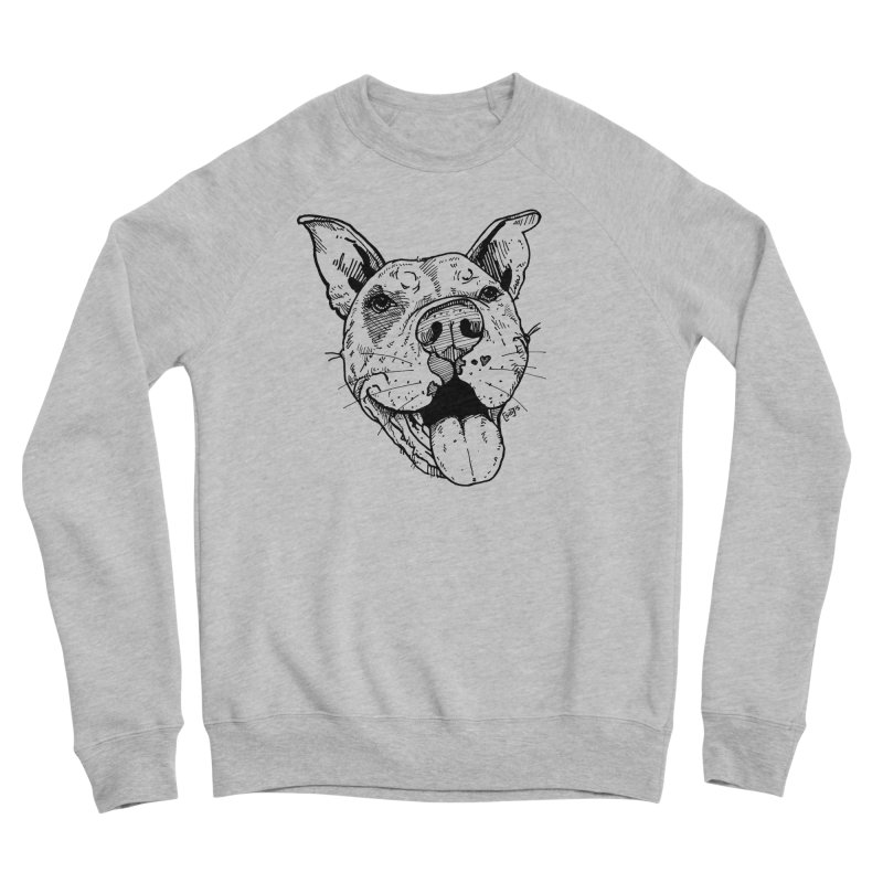 Pittie Smile Men's Sponge Fleece Sweatshirt by Pittie Chicks