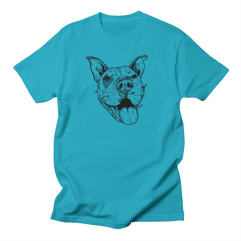 Pittie Smile Men's Regular T-Shirt by Pittie Chicks