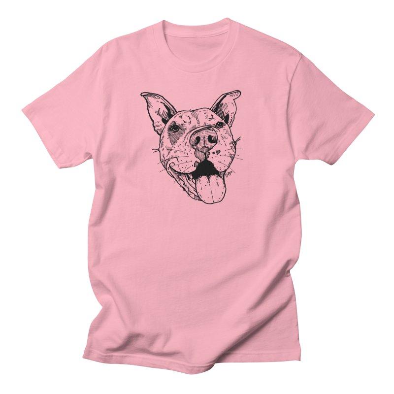 Pittie Smile Women's Regular Unisex T-Shirt by Pittie Chicks