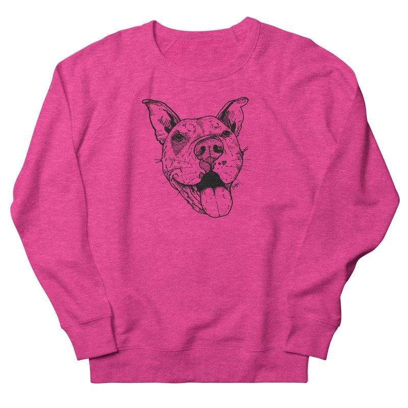 Pittie Smile Women's French Terry Sweatshirt by Pittie Chicks