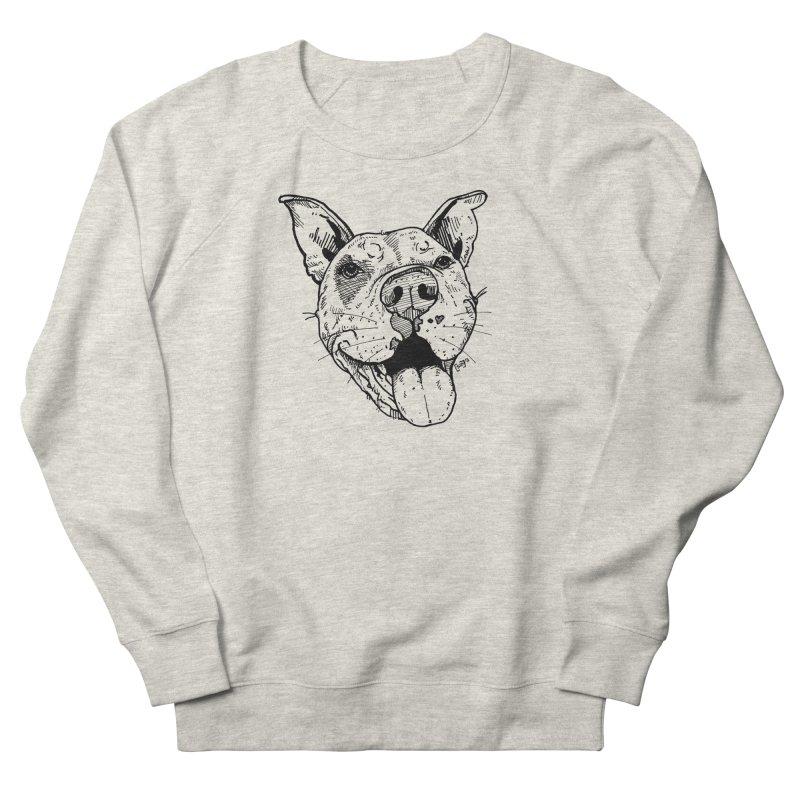 Pittie Smile Men's Sweatshirt by Pittie Chicks