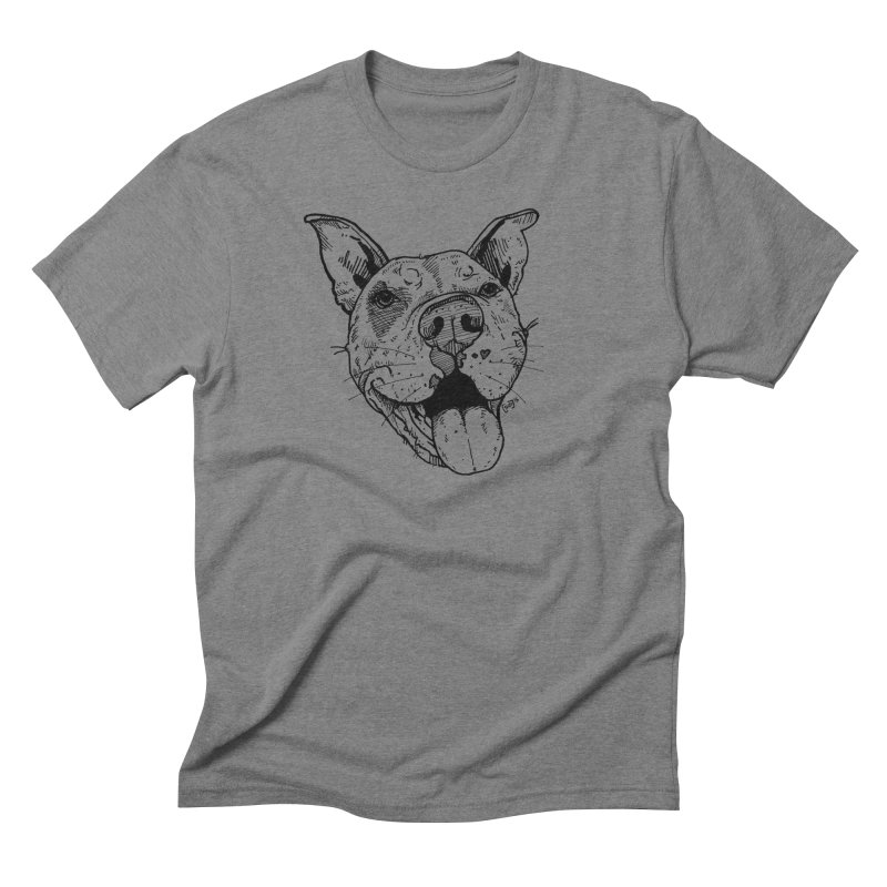 Pittie Smile Men's Triblend T-Shirt by Pittie Chicks