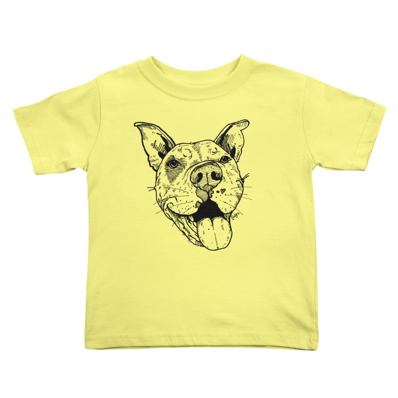 Pittie Smile Kids Toddler T-Shirt by Pittie Chicks
