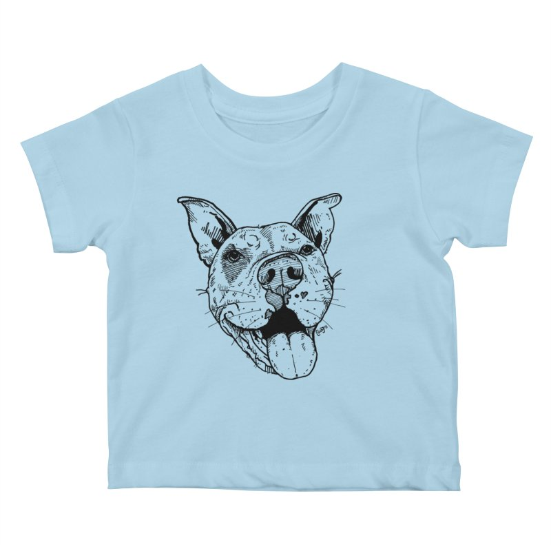 Pittie Smile Kids Baby T-Shirt by Pittie Chicks