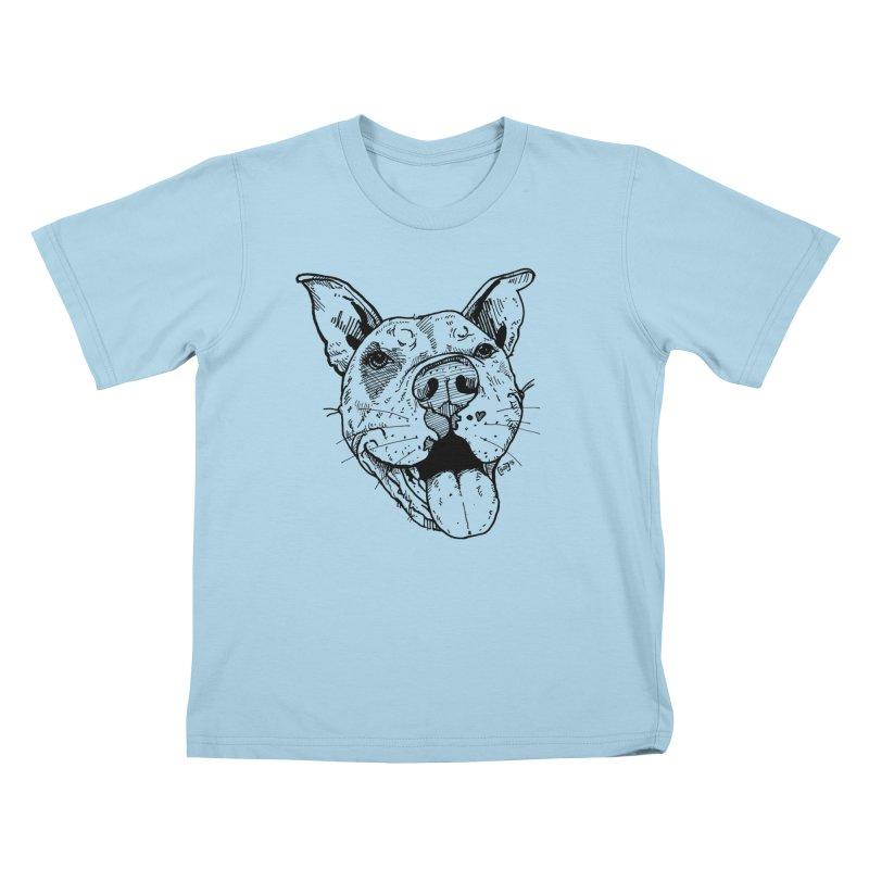 Pittie Smile Kids T-Shirt by Pittie Chicks