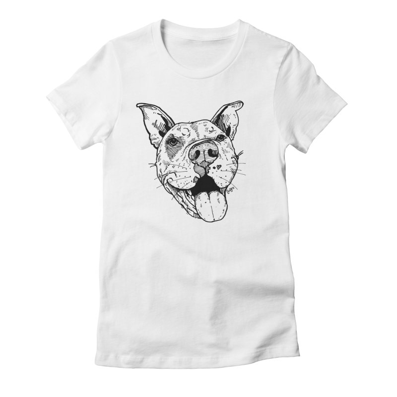 Pittie Smile Women's Fitted T-Shirt by Pittie Chicks