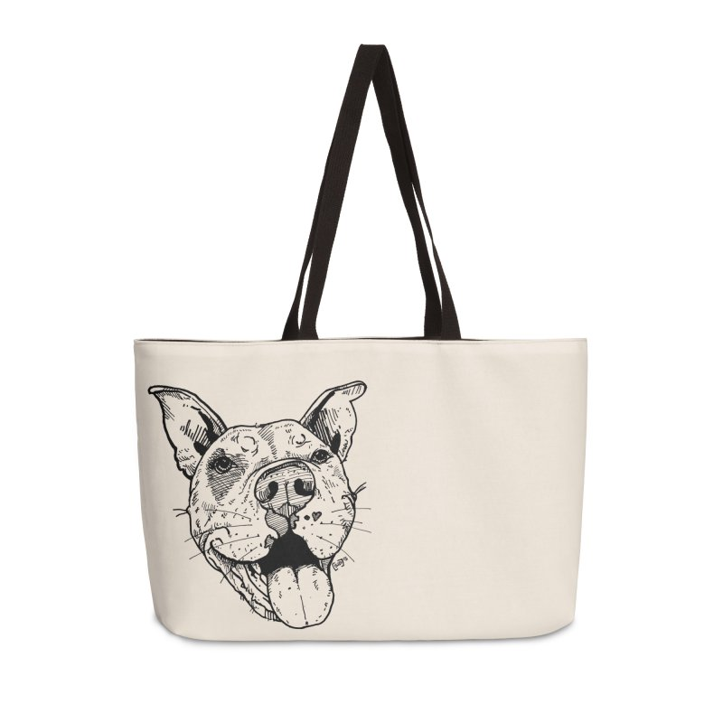 Pittie Smile Accessories Weekender Bag Bag by Pittie Chicks
