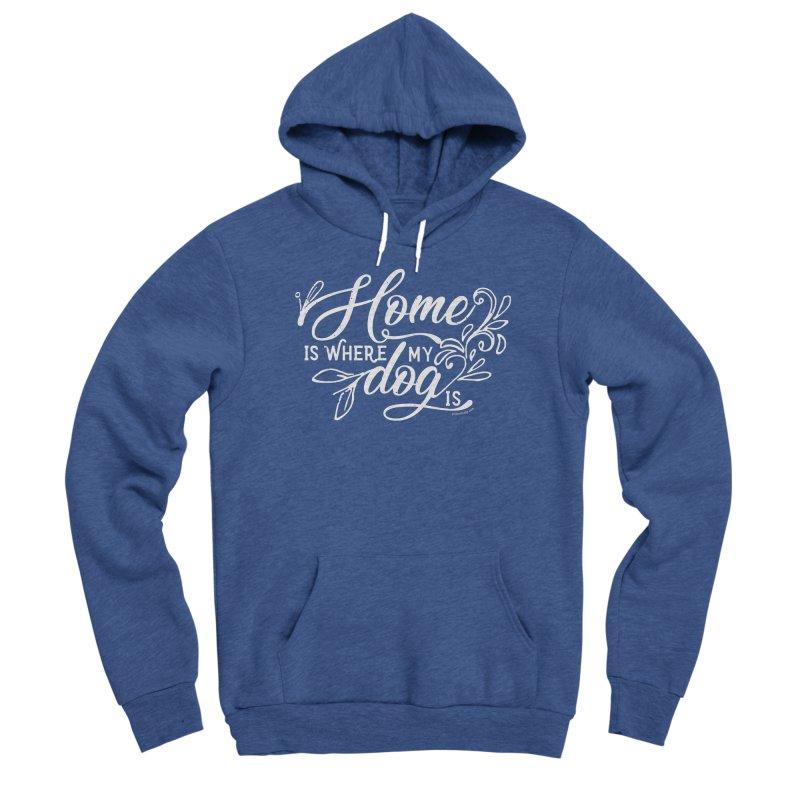 Home Men's Sponge Fleece Pullover Hoody by Pittie Chicks