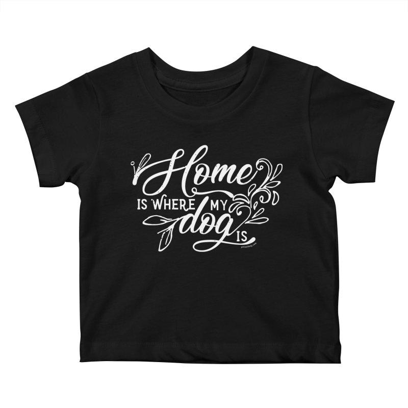 Home Kids Baby T-Shirt by Pittie Chicks