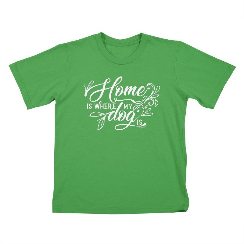 Home Kids T-Shirt by Pittie Chicks
