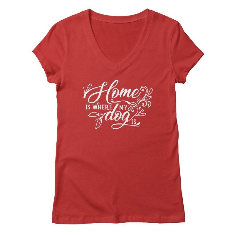 Home Women's Regular V-Neck by Pittie Chicks