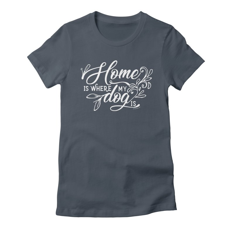Home in Women's Fitted T-Shirt Denim by Pittie Chicks