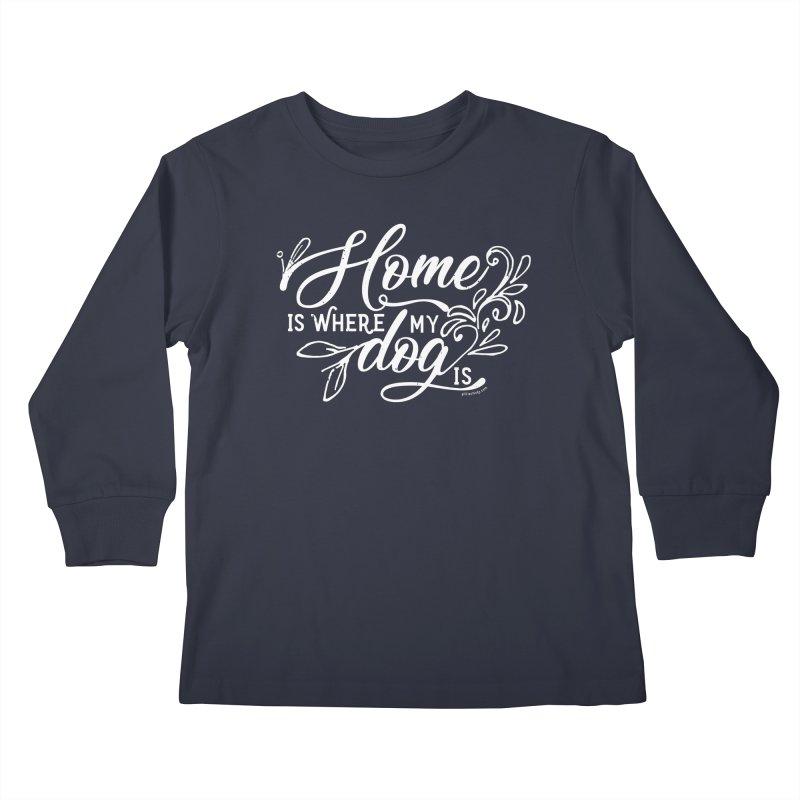 Home Kids Longsleeve T-Shirt by Pittie Chicks