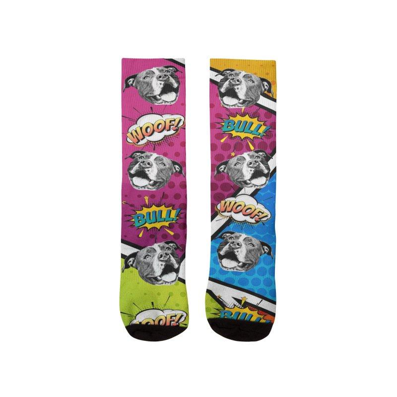 Beefy Bull Socks Men's Socks by Pittie Chicks