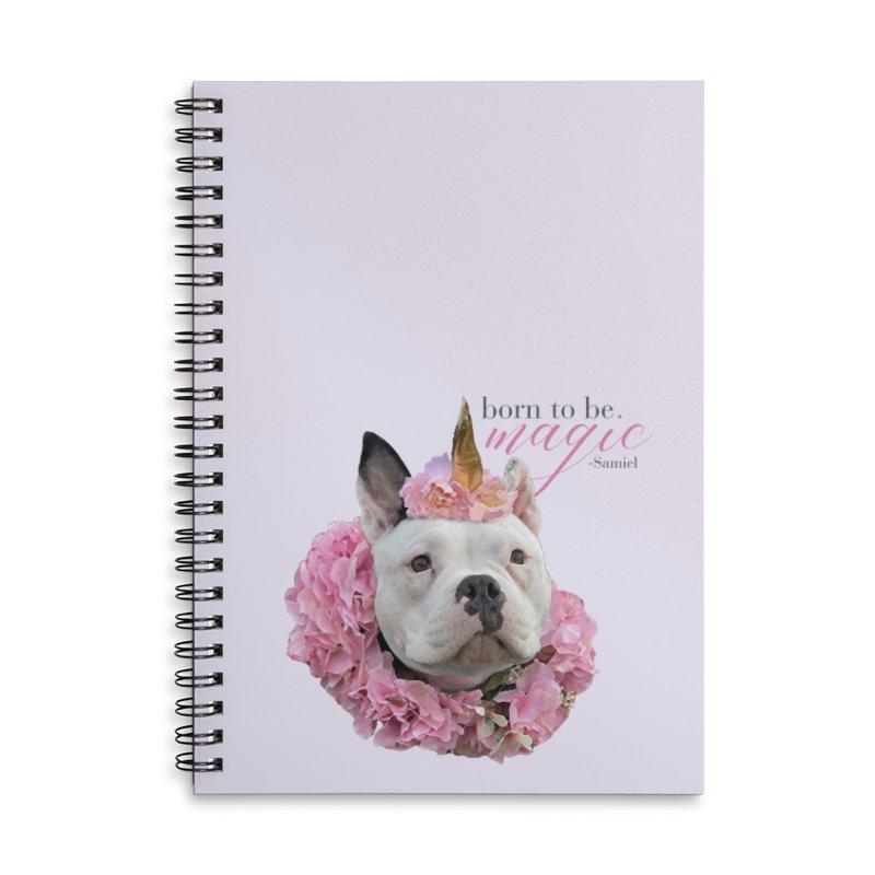 Born Magical - Samiel Accessories Notebook by Pittie Chicks