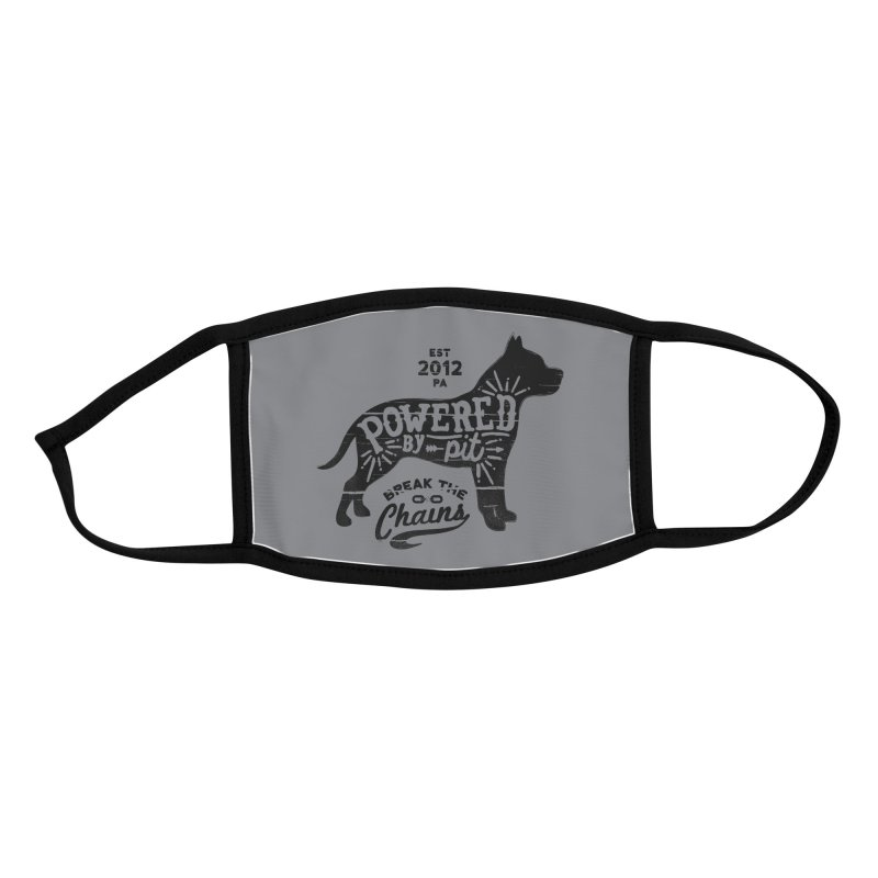 Powered By Pit Face Mask Accessories Face Mask by Pittie Chicks