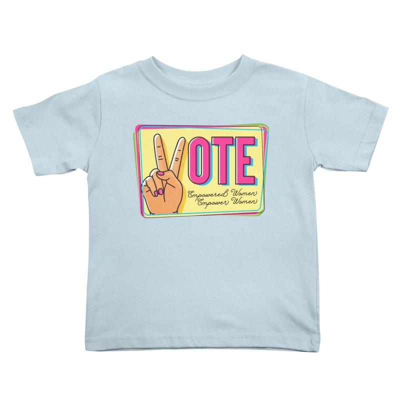 Vote - Empowered Women Kids Toddler T-Shirt by Pittie Chicks