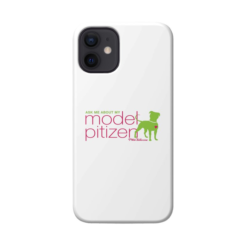 Model Pitizen - Pink Pit in Pearls Accessories Phone Case by Pittie Chicks