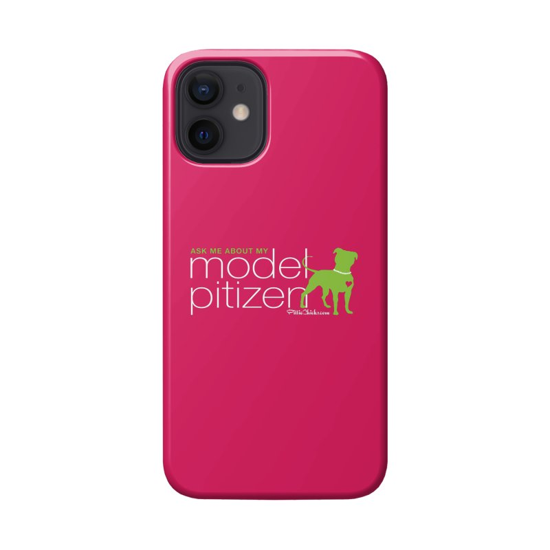 Model Pitizen - White Pit In Pearls Accessories Phone Case by Pittie Chicks