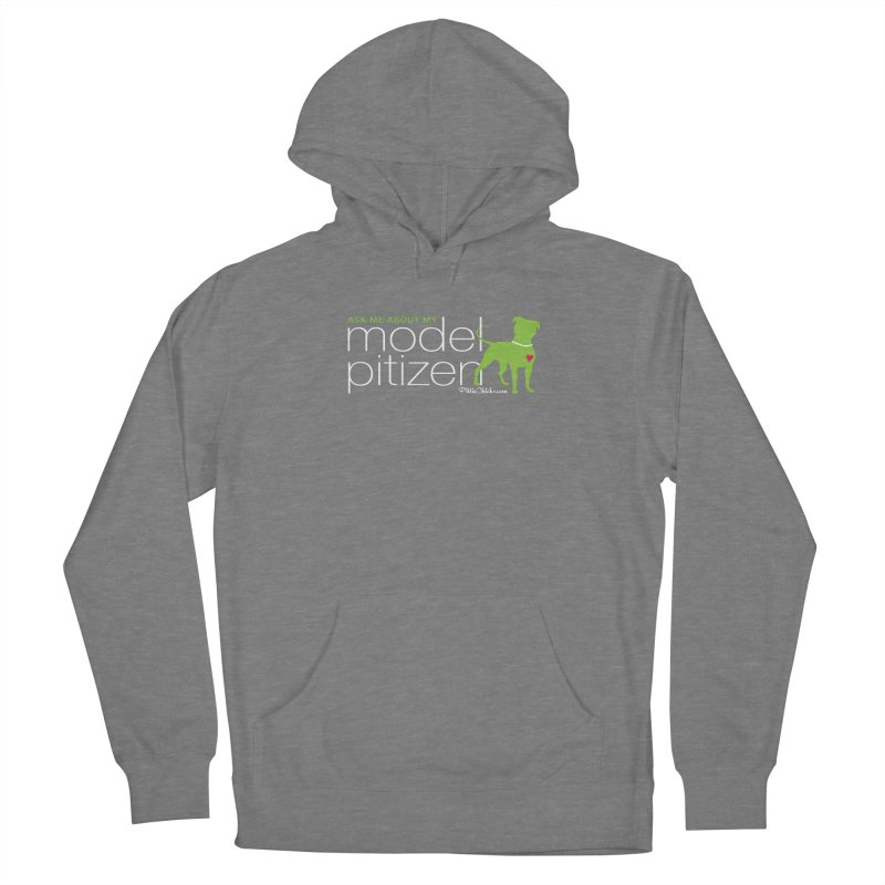 Model Pitizen - White Pit In Pearls Women's Pullover Hoody by Pittie Chicks