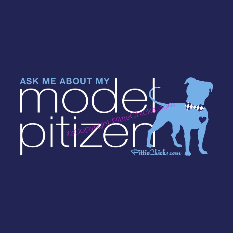 Model Pitizen - White Bow Tie Pit Bull Men's Sweatshirt by Pittie Chicks