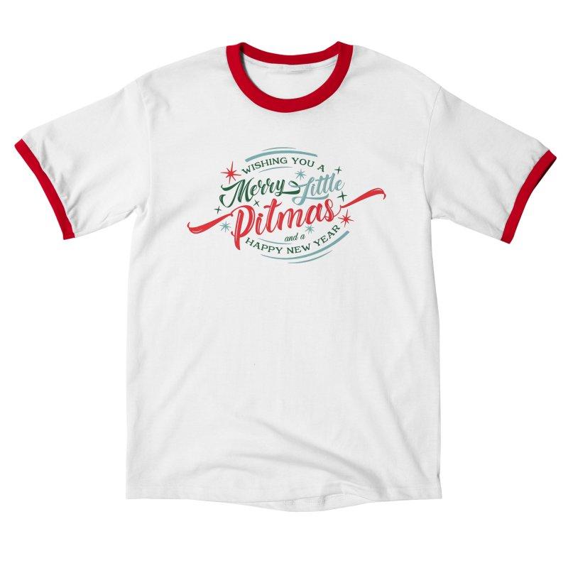Merry Little Pitmas Men's T-Shirt by Pittie Chicks