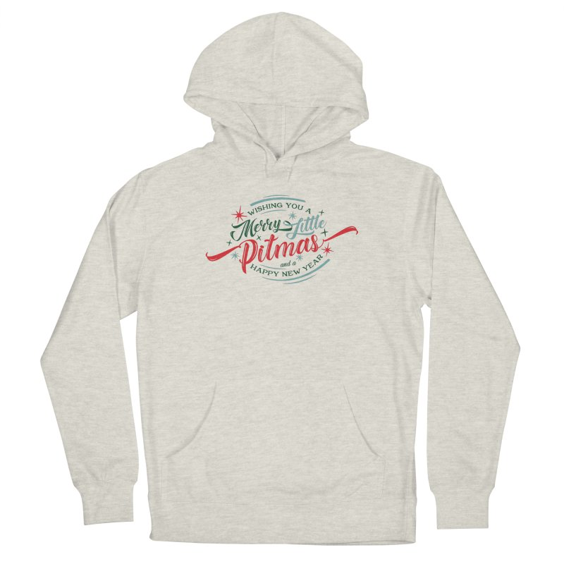 Merry Little Pitmas Men's Pullover Hoody by Pittie Chicks